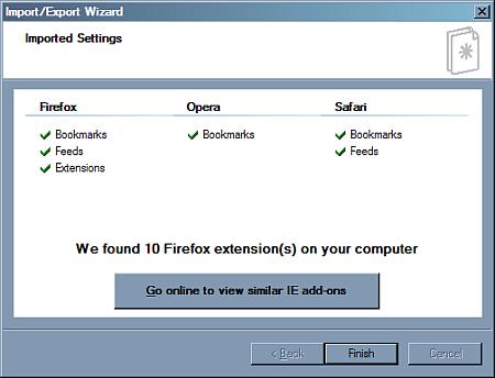 IE8 piedāvā atrast FF paplašinājumiem līdzīgus addonus